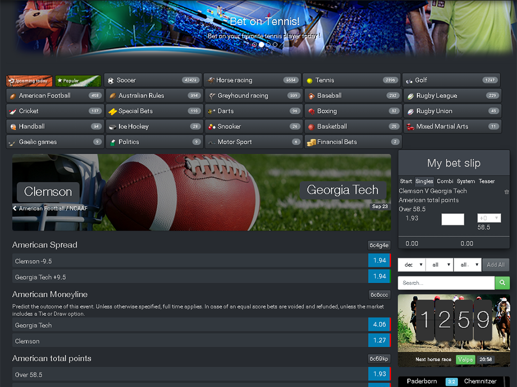 White label sportsbook software with excellent coverage for US sports – 1024px